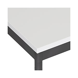 White Top/ Hammered Base Dining Tables
