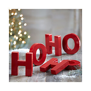 Ho Ho Ho Letters Set of Six