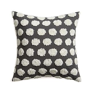 "Hob Nail 23"" Pillow with Feather Insert"