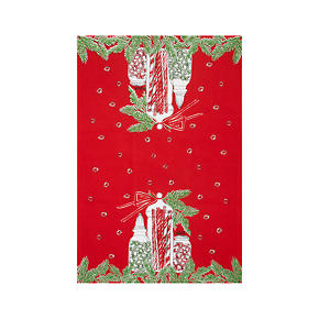 Vera Neumann Holiday Candy Jar Dishtowel