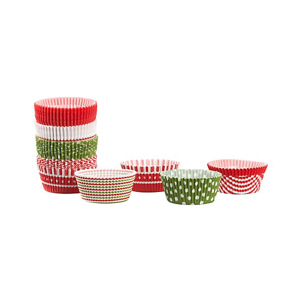 Set of 100 Holiday Cupcake Papers