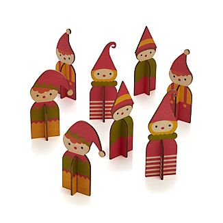 Set of 8 Holiday Elves