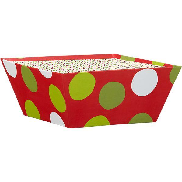 Holiday Dots Small Gift Tote