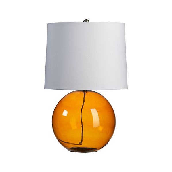 Hoopla Amber Table Lamp