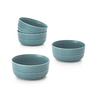 Set of 4 Hue Blue Bowls