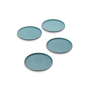 Set of 4 Hue Blue Dinner Plates