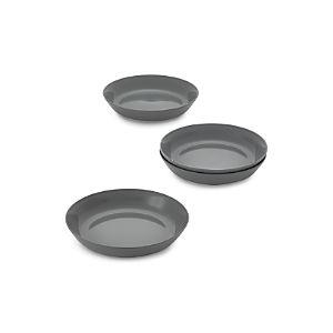 Set of 4 Hue Dark Grey Low Bowls