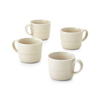 Set of 4 Hue Ivory Mugs