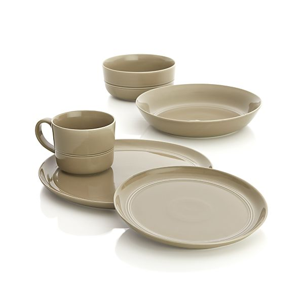 Hue Taupe Dinnerware