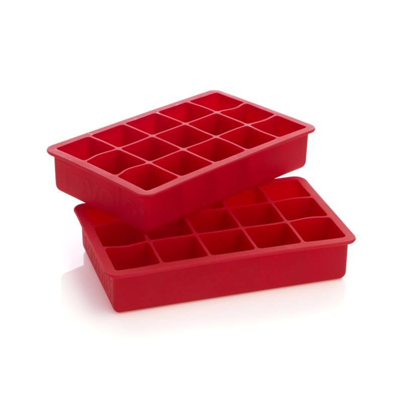Red Ice Cube Trays Set Of Two Crate And Barrel