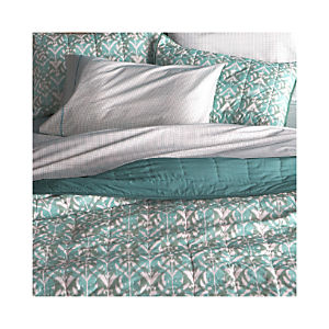 Ikat Aqua Quilt and Pillow Shams