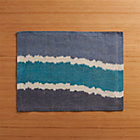 Ikat Blue Stripe Placemat.