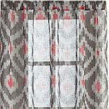 "Ikat Grey 48""x84"" Curtain Panel"