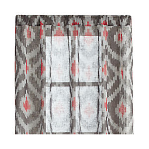 "Ikat Grey 48""x108"" Curtain Panel"