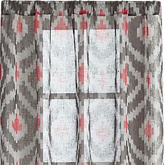 "Ikat Grey 48""x96"" Curtain Panel"