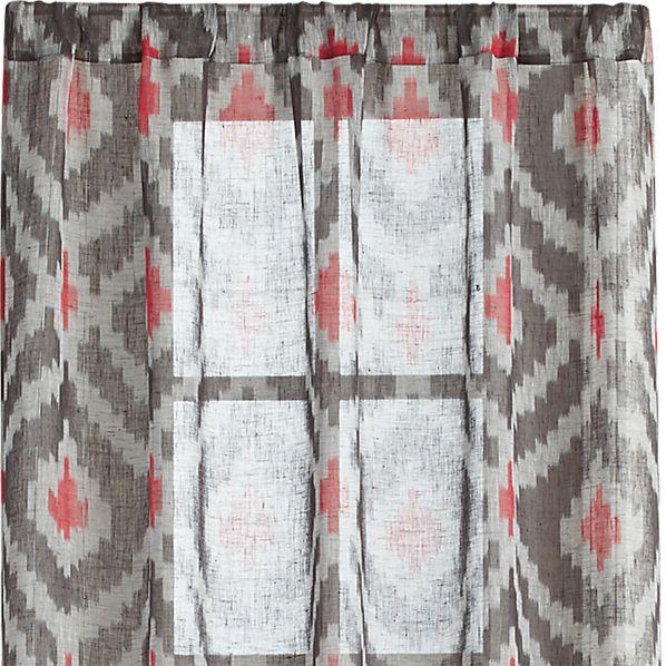 """Ikat Grey 48""""x96"""" Curtain Panel"""