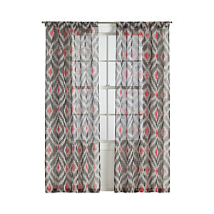 Ikat Grey Curtain Panels