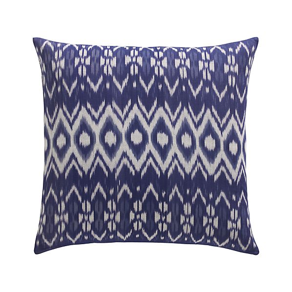 "Ikat 23"" Pillow with Down-Alternative Insert"