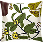 "Marimekko Ikkunaprinssi Beige and Green Pillow. 20"" sq."