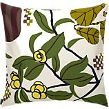 "Marimekko Ikkunaprinssi Beige and Green 20"" Pillow"