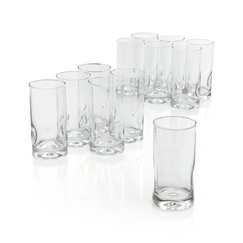 Four distinctive impressions and a thick sham give you a comfortable hold on these glasses.<br /><br /><NEWTAG/><ul><li>Dishwasher-safe</li><li>Comfortable to hold</li><li>Made in Mexico</li></ul>