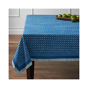 Indigo Block Print Tablecloth