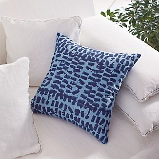 "Indigo 16"" Pillow with Down-Alternative Insert"