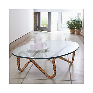 Indigo Rattan Coffee Table