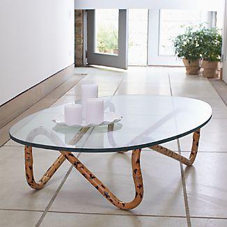Indigo Rattan Coffee Table