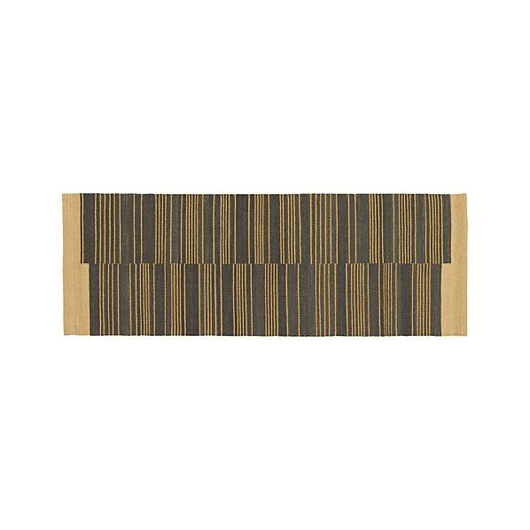 Indigo Stripe 2.5'x7' Runner