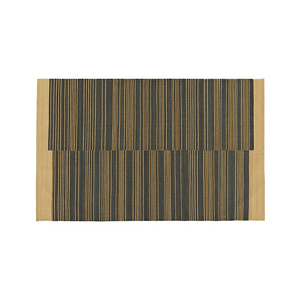 Indigo Stripe 5'x8' Rug