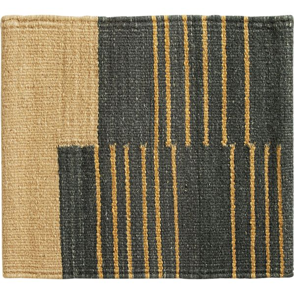 "Indigo Stripe 12"" sq. Rug Swatch"