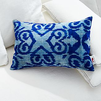 "Indigo Velvet 20""x13"" Pillow"