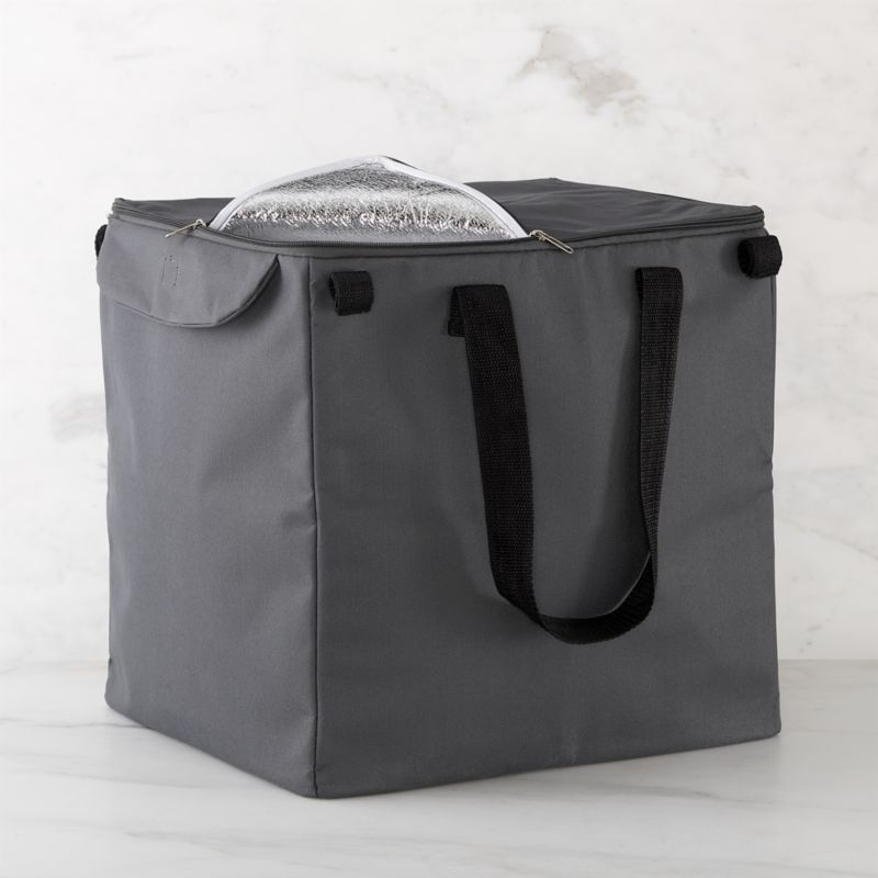Life meets style™ at the intersection of form and function courtesy of the bright minds at Polder® Housewares. Custom-designed for our folding shopping cart, this insulated grey liner features generous capacity, zipper closure, carrying handles aluminum and sponge padding to keep foods cold. Liner affixes easily to cart with fabric tab fasteners.<br /><br /><NEWTAG/><ul><li>Non-woven polypropylene</li><li>Aluminum lining with EPE sponge</li><li>Zipper closure, fabric tab fasteners</li><li>30-pound capacity</li><li>Clean with a damp cloth</li><li>Made in China</li>&l