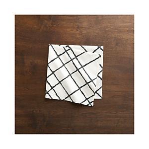 Intersect Black Napkin