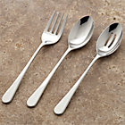 Iona 3-Piece Serving Set: serving fork, pierced serving spoon, serving spoon.