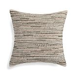 "Isaac Neutral 20"" Pillow with Feather-Down Insert"