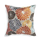 "Isabell Orange 18"" Pillow with Feather-Down Insert"