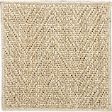 Island Chvrn Cream 12&quot; sq. Rug Swatch
