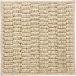 Island Grid Cream 12&quot; sq. Rug Swatch