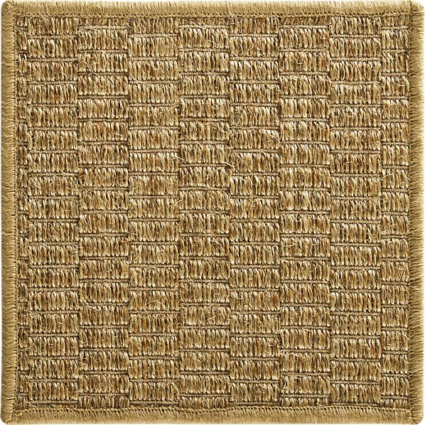 "Island Honey Grid  12"" sq. Rug Swatch"