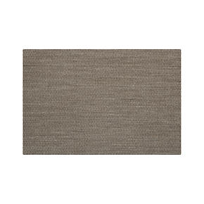Island Graphite Grid Rug