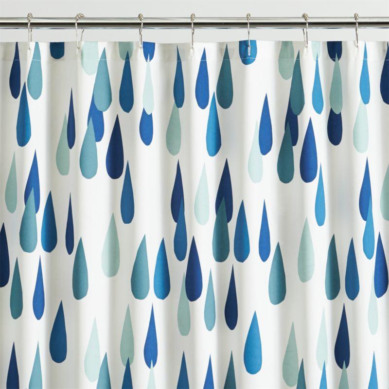 Marimekko Iso Pisaroi Shower Curtain Crate And Barrel