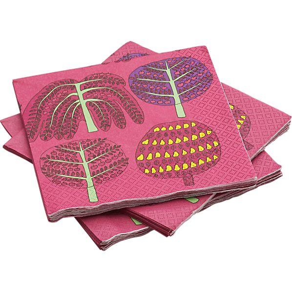 """Marimekko Isoisän Puutarha 6.5"""" Paper Napkins"""