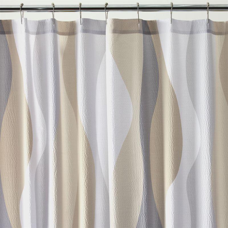 Italian Seersucker Natural Shower Curtain Crate And Barrel