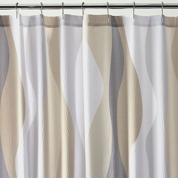Italian Seersucker Natural Shower Curtain