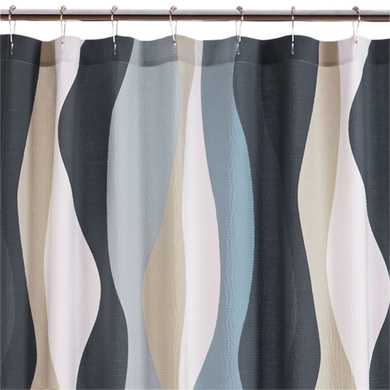 87 Italian Seerer Neutral Shower Curtain Afton On Aqua