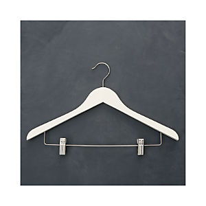 Ivory Hanger with Clips