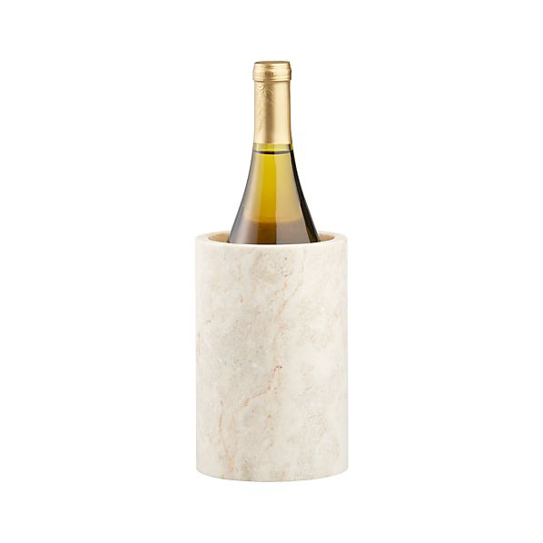 Ivory Marble Wine Cooler