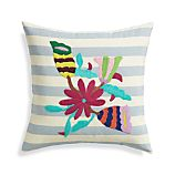 "Jardin 16"" Pillow with Feather-Down Insert"